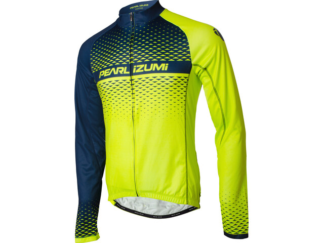 PEARL iZUMi Elite LTD Thermal LS Jersey Men screaming yellow/navy